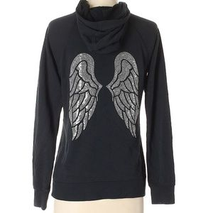 VS Sequin Angel Wing Bling  Supermodel Zip  Sz S